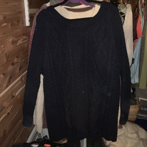 BDG Sweaters - Blue cable knit sweater